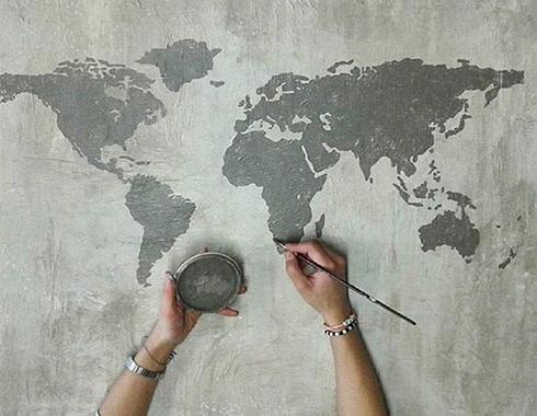 ściana pomalowana farbą kredową
